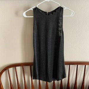 Racer back burnout zipper detail tank top Mossimo